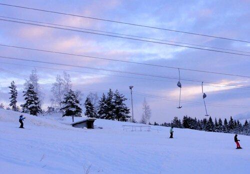 Swedes hit the slopes in December.