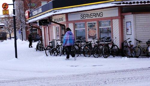Downtown Skellefteå.