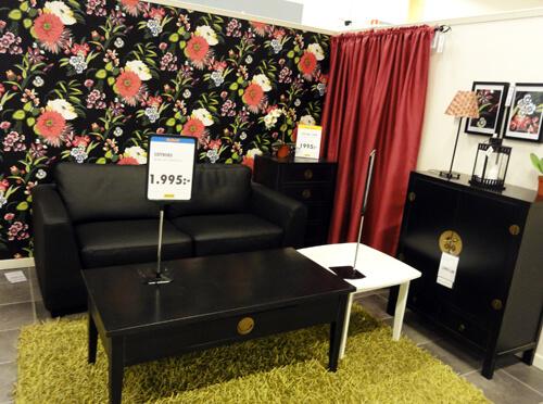 Swedish living room at Rusta.