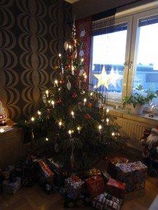 Swedish Christmas Tree with Presents