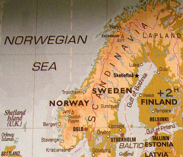 Skellefteå map.