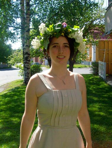 The Swedish midsummer wreath.