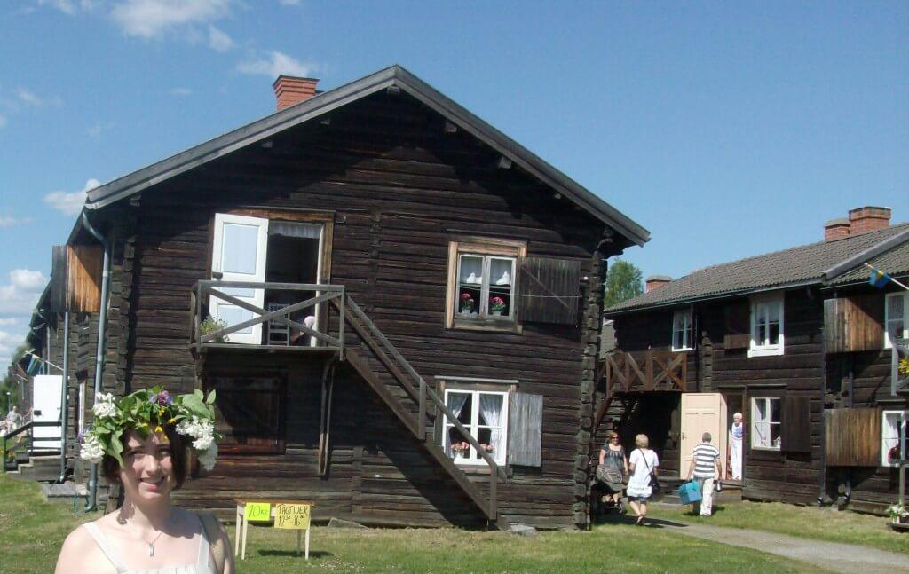 Wooden cottages in Skellefteå
