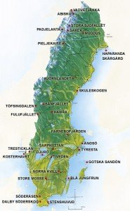 Swedish National Park Map