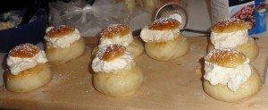 Fresh baked semlor