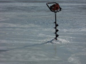 motorized ice drill