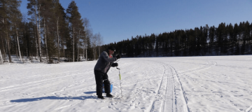 ice fishing in Sweden
