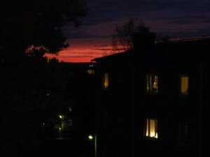 Sunset in November in Norrland