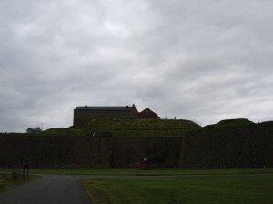 Varbergs fästning on a gloomy day