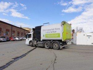biofuel garbage truck