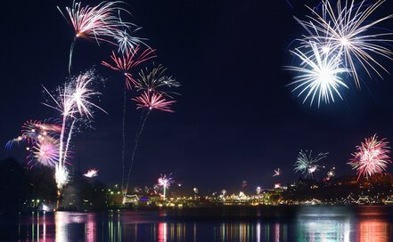 Fireworks over Stockholm, New Year's Eve