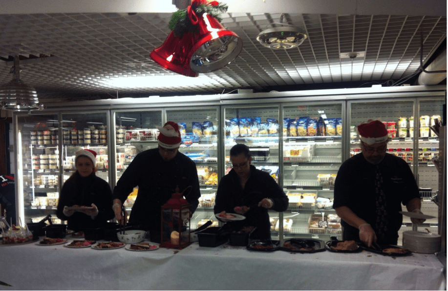 julbord at the grocery store