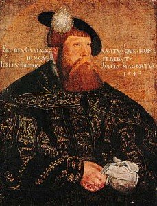Gustav Vasa.Portrait made by Jacob Binck, belonging to Uppsala University's art collection.(Picture from Wikipedia)