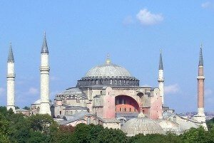 Hagia Sofia, the basilica / mosque in Istanbul (Picture from Wikipedia.)