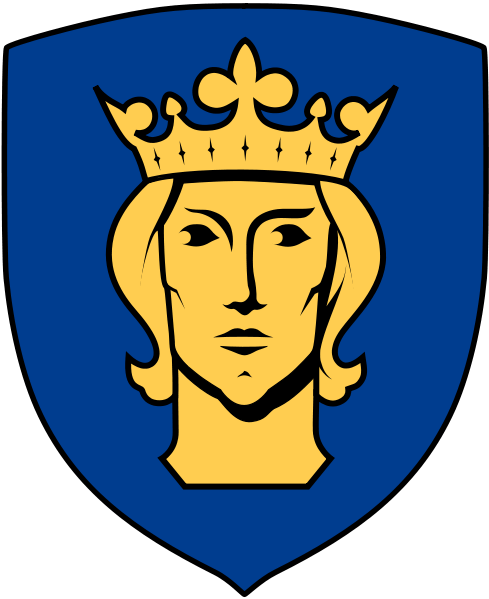 Erik den helige.One of several renderings of Stockholm's coat of arms.(Picture from Wikipedia.)