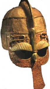Viking helmet from a boat grave in Uppland.(Picture from the-history-notes.blogspot.se)