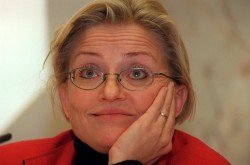 Anna Lindh, Minister of Foreign Affairs,Assassinated on Sept. 11, 2003(Picture from folkbladet.nu)