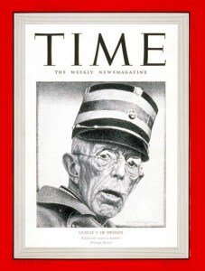 King Gustav V on the cover of the 1939 October issue of Time Magazine.(Picture from time.com)