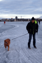Thomas and Ziggy on Ice