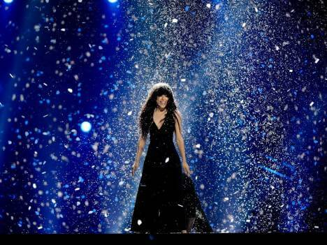 "Swedish singer Loreen Talhaoui performed the winning entry ""Euphoria"" in the European Song Contest 2012, held in Baku, Azerbaijan. The song received the highest number of maximum (12) points of any entry in the contest's history and has been certified platinum 9 times."