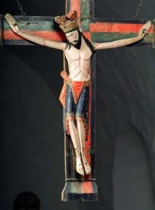Medieval crucifix, Buttle church, Gotland. Picture from Swedish History Museum historiska.se