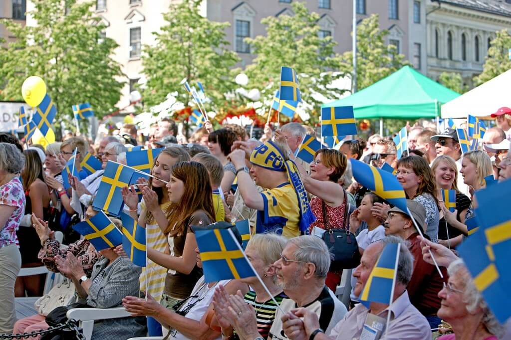 National Day celebrations in Kungsträdgården, Stockholm Photo by Bengt Nyman