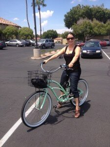Hilary's new Bike