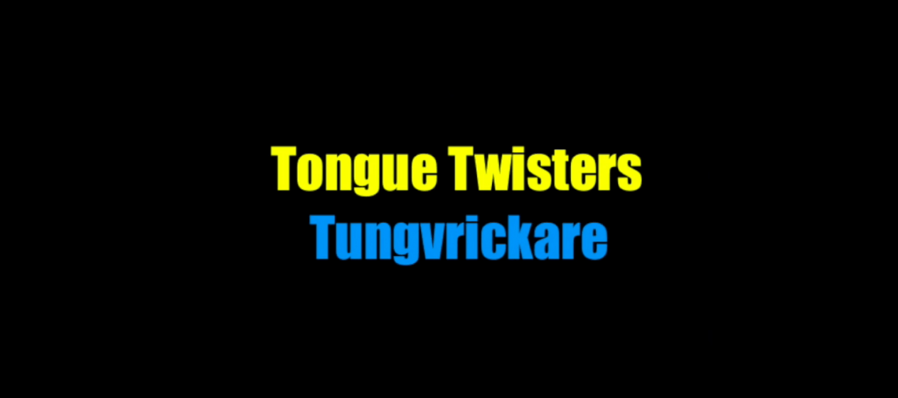 swedish tongue twisters