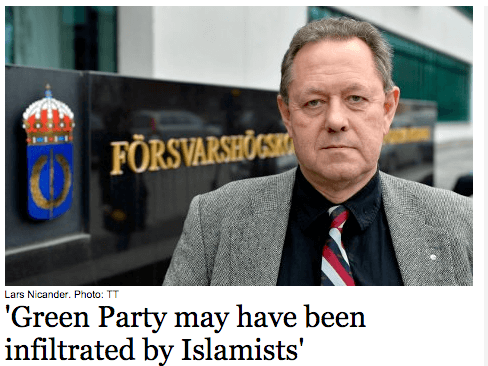 Green Party May have been infultrated by islamists