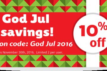 God jul coupon 2016