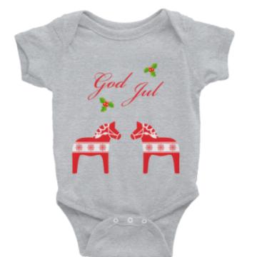 God Jul infant outfit