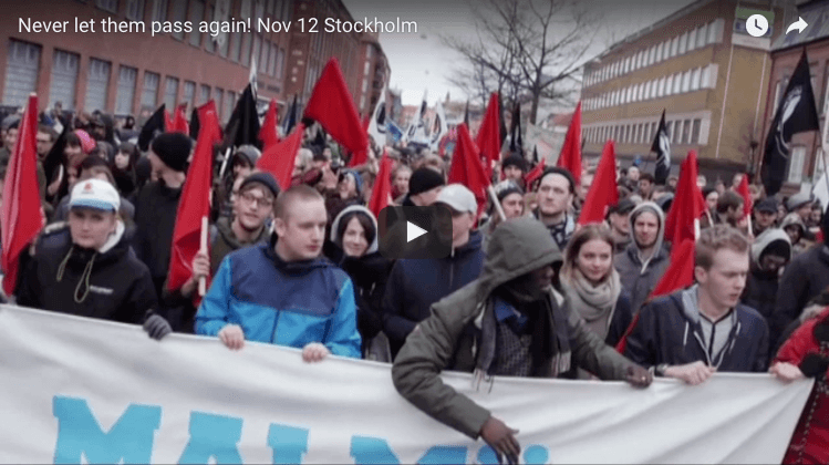Swedes Protest Nazis in Stockholm