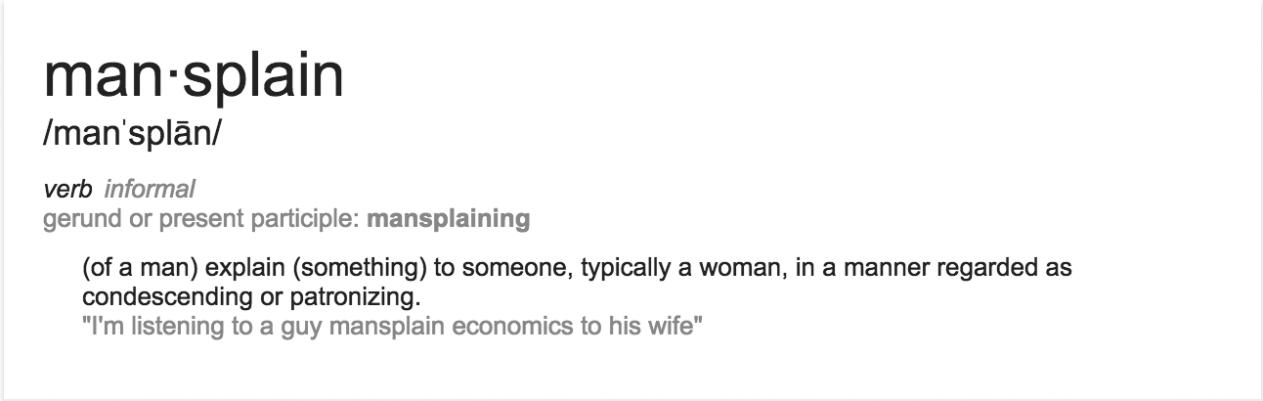 mansplain definition