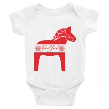 Swedish God Jul Infant short sleeve onsie