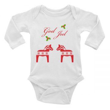 God Jul infant long sleeve one-piece