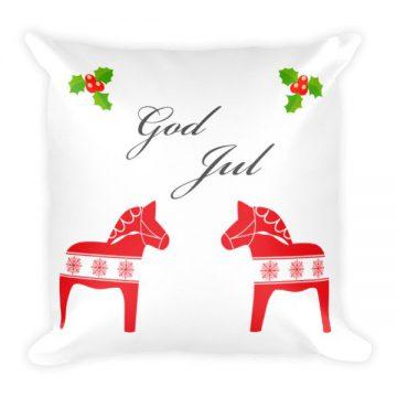Dala Horse God Jul Pillow