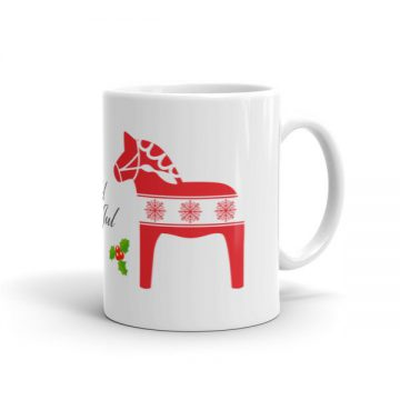 Dala Horse Christmas God Jul Mug