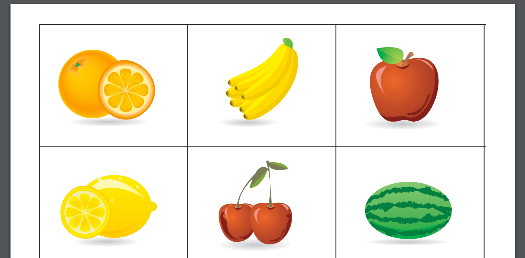 Swedish Fruit Flash Cards