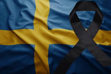 Swedish flag mourning