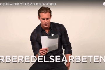 longest Swedish word by Alexander Skarsgård