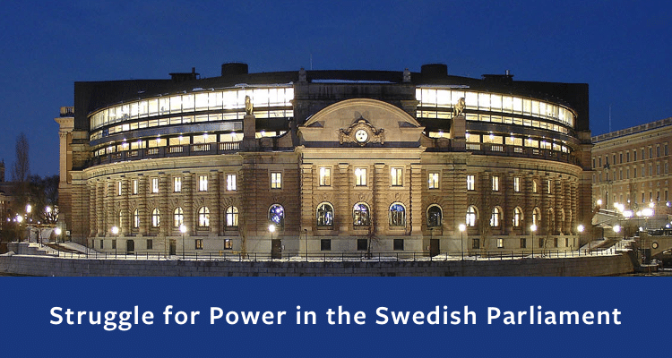 Swedish parliament, night view